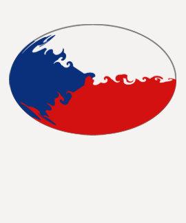 Czechiaのすごい旗のTシャツ Tシャツ