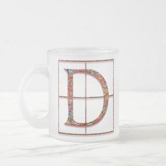 """Dの""""ケルト族の煉瓦""""カスタムなモノグラムのマグ フロストグラスマグカップ"""