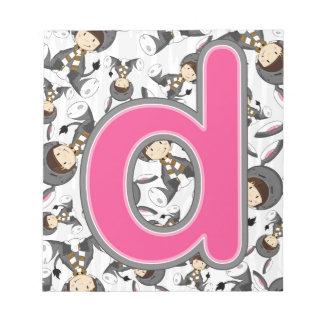Dはろばの女の子のためです ノートパッド