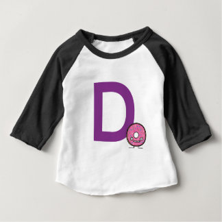 Dはドーナツデザートのピンクのアイシングのため振りかけます揚げられていてです ベビーTシャツ