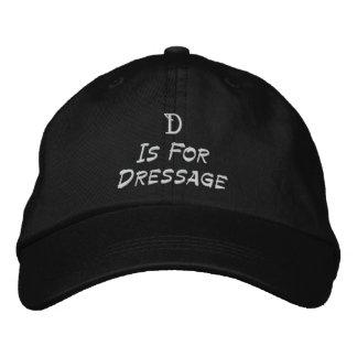 Dは馬場馬術によって刺繍される野球帽のためです 刺繍入りキャップ