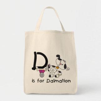 DはDalmationのTシャツおよびギフトのためです トートバッグ