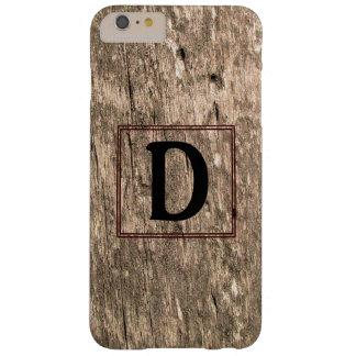 DモノグラムのBarnwoodのiPhone 6のプラスの場合 Barely There iPhone 6 Plus ケース