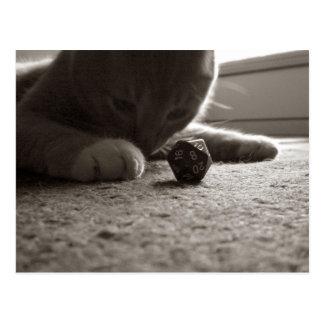 D20賭博の子猫 ポストカード