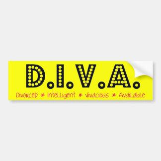 D.I.V.A. 離婚された女性 バンパーステッカー