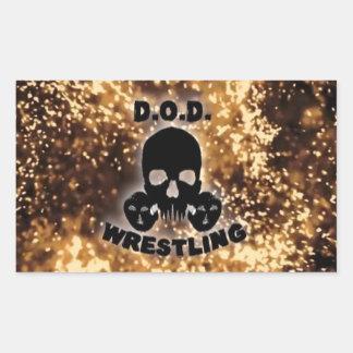 D.O.Dのレスリングのステッカー 長方形シール