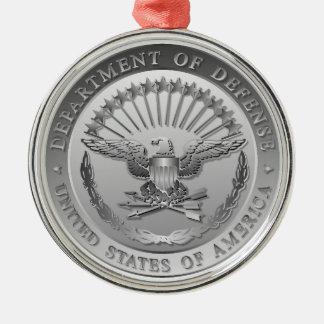 D.O.Dの政府の紋章 シルバーカラー丸型オーナメント