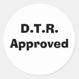 D.T.R.  公認 ラウンドシール