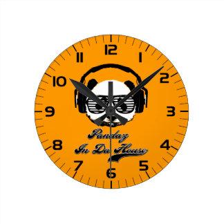 Daの家のPandaz ラウンド壁時計