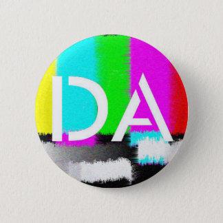 DAの白く静的なボタン 缶バッジ