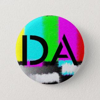 DAの黒く静的なボタン 缶バッジ