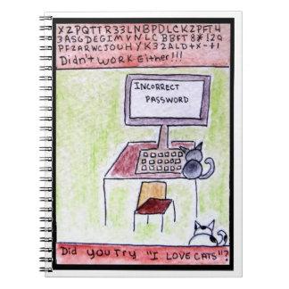 DA CatToon #4 -猫のハッカーのノート ノートブック