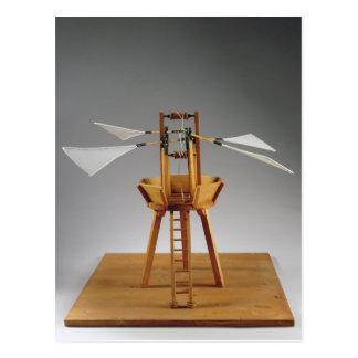 Da Vinciのデザインのモデル復元 ポストカード