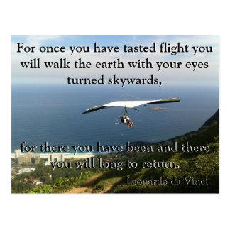 Da Vinciのハンググライダー ポストカード