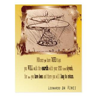 Da Vinciのヘリコプター2 ポストカード
