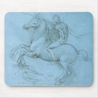 Da Vinciの馬およびライダー マウスパッド