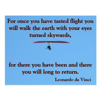 Da Vinciハンググライダー ポストカード