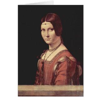 Da Vinciレオナルド- Laの美女のferronnière カード