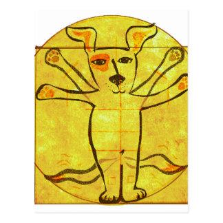 Da Vinci犬 ポストカード