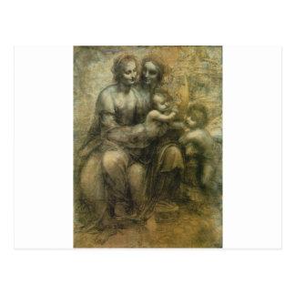 Da Vinci著メリー、キリスト、セントアンナおよび聖ヨハネ ポストカード