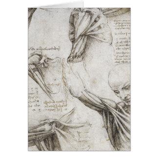 Da Vinci、レオナルド-解剖学の勉強 カード