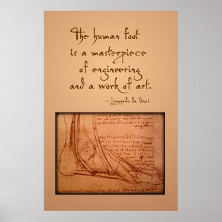 """Da Vinci: """"人間足あります… """"は ポスター"""
