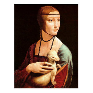 Da Vinci: 女性With Ermine ポストカード