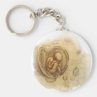 Da Vinci -胚のスケッチ キーホルダー
