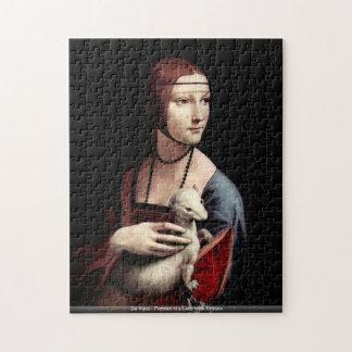 Da Vinci - Ermineを持つ女性のポートレート ジグソーパズル