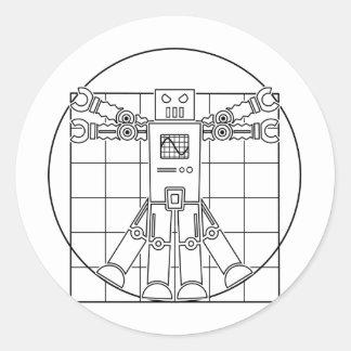 Da Vinci Vitruvianのロボットステッカー ラウンドシール