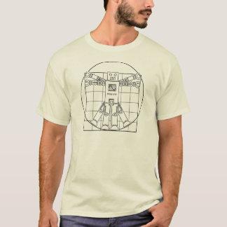 Da Vinci Vitruvianのロボット Tシャツ