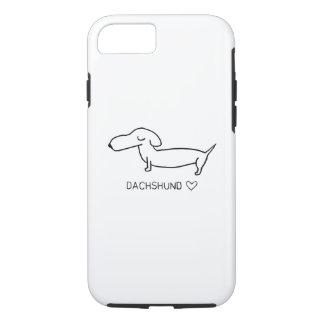Dachshund Love iPhone 8/7ケース