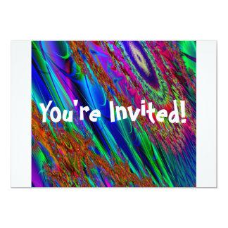 Dactyl Fractylのフラクタルの芸術の招待状 カード