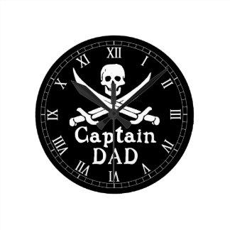 Dad -クラシック大尉 ラウンド壁時計