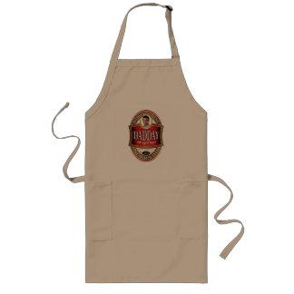 Daddayビールラベルのグリルのエプロン- A ロングエプロン