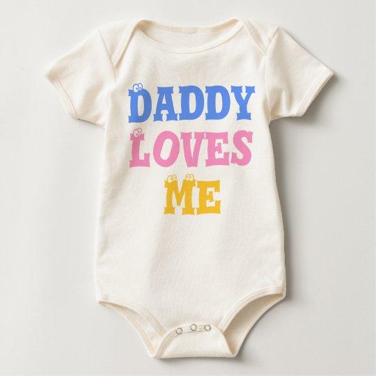 Daddy Loves Me ベビーボディスーツ