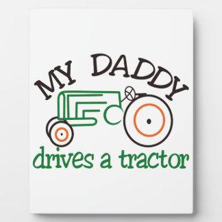 Daddysの私のトラクター フォトプラーク