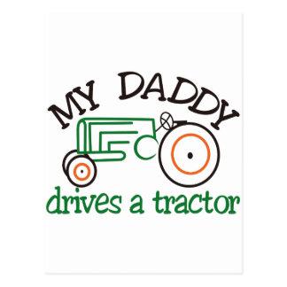 Daddysの私のトラクター ポストカード