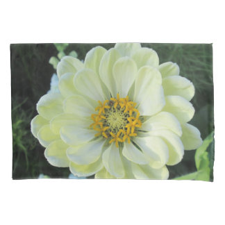Dahlia Light Yellow Flower 枕カバー