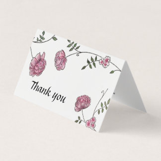 Dahlia Wedding thank you cards カード