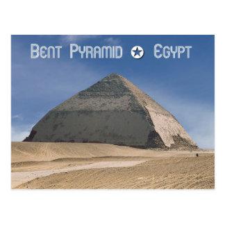 Dahshur、エジプトの曲がったピラミッド ポストカード