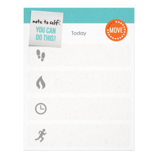 Daily Exercise Tracker and/or Planner レターヘッド