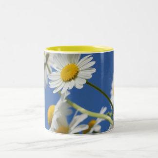 daisies-388946_1920デイジーの花の春の植物na ツートーンマグカップ