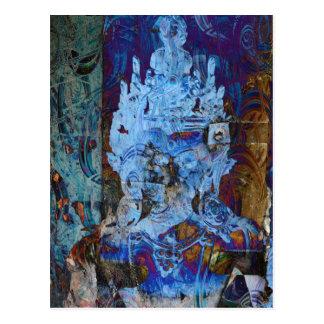 Dakiniの発散の青の夢みる人 ポストカード