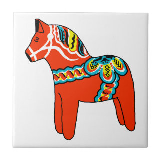 Dalaの赤い馬 タイル