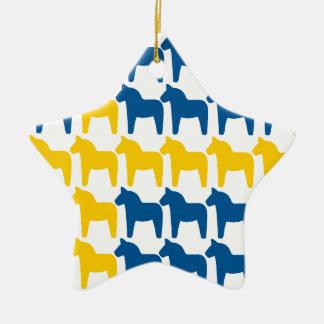 Dalaの馬のスウェーデンの旗 セラミックオーナメント