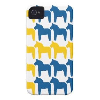 Dalaの馬のスウェーデンの旗 Case-Mate iPhone 4 ケース