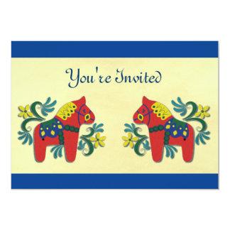 Dalaの馬のスカンジナビア人のパーティの招待状 カード