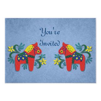 Dalaの馬のパーティの招待状 カード
