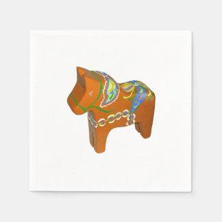 Dalaの馬の紙ナプキン スタンダードカクテルナプキン